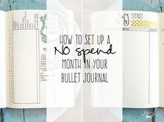 how to set up a NO SPEND month in your bullet journal