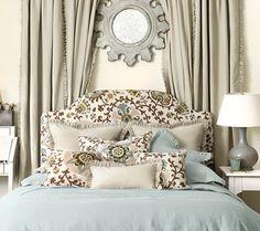 bedroom in shades of grays  Domino mag and Ballard design  5-1-14