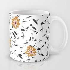 illustration, art, interior, mugs, cup, illustrated mug, coffee mug, cup, floral mug, flower mug,