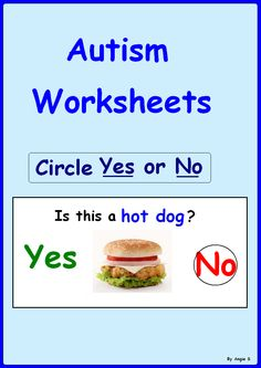 Yes/ No Questions- a great activity to target basic yes/no questions, good for students with autism and special needs. #Autism For more resources follow https://www.pinterest.com/angelajuvic/autism-special-education-resources-angie-s-tpt-sto/