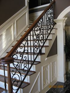 #rai0505 - Wrought Iron Railing.