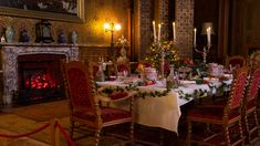 A wam welcome greets Christmas visitors to Charlecote's Victorian setting © Jana Eastwood