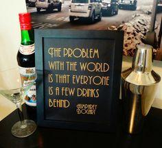 Black & Gold Printable Time to Drink Champagne by BobbiBDesigns
