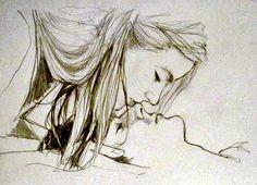 sketches of people in love Drawings Of Love Couples, Pencil Drawings Of Love, Cute Couple Drawings, Sketches Of Love Couples, Pencil Art, Sketches Of People, Drawing People, Drawing Eyes, Drawing Sketches