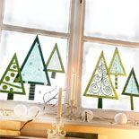 JAKO-O Window trees Tonpapier ausschneiden Transparentpap Noel Christmas, Christmas Crafts For Kids, Christmas Projects, Winter Christmas, Holiday Crafts, Christmas Centerpieces, Christmas Decorations, Centerpiece Ideas, Navidad Diy
