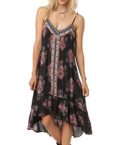 Look what I found on #zulily! Charcoal Floral Marquita Dress #zulilyfinds