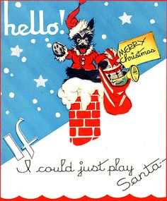 eeee! a vintage santa scotty card