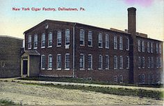 One of many cigar factories in Dallastown. Located on South Walnut Street, this building is currently a mini storage facility.
