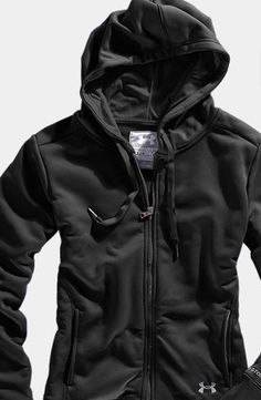 Under Armour hoodie...perfect for cold, winter runs!  Maybe I'd run outside in the winter!