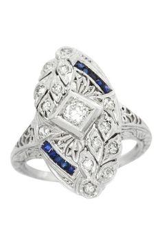 gatsby glam: diamond and sapphire.
