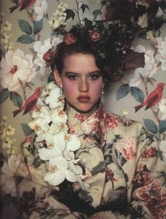 flower print coat | Fashion + Photography | Photo: Molly Ringwald by Sheila Metzner |