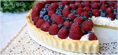 Tarta z malinami - I Love Bake Quiche, Sides For Chicken, Low Carb Side Dishes, Polish Recipes, Baked Goods, Holiday Recipes, Cheesecake, Food And Drink, Sweets
