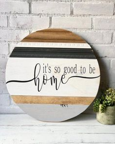 rustic home decoration guide diy home decor wood Its so good to be home sign / Wood round sign / Home decor / Round sign / Home and living / Signs / Wall hanging / Farmhouse decor / Rustic Diy Signs, Home Signs, Wall Signs, Wood Signs For Home, Rustic Wood Signs, Wooden Signs, Rustic Farmhouse Decor, Rustic Decor, Modern Farmhouse