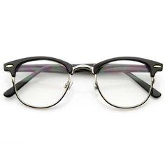 b7f766946467 Vintage Optical RX Clear Lens Half Frame Glasses 2946 49mm
