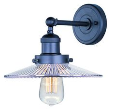 View the Maxim 25065-BUI Mini Hi-Bay 1 Light Barn Light Wall Sconce - Bulb Included at LightingDirect.com.