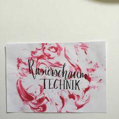 Letter Lovers zeitanker: Anleitung Handlettering Hintergrund mit der Rasierschaum Technik