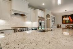 colonial white granite Spaces Traditional with none none