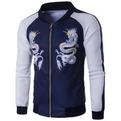 SHARE & Get it FREE | Zip Up Dragon Print Raglan Sleeve JacketFor Fashion Lovers only:80,000+ Items·FREE SHIPPING Join Dresslily: Get YOUR $50 NOW!