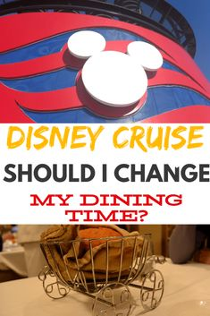 Disney Cruise Change Dining Time tips and advice. How do you change from Second to Main Dining on a Disney Cruise with your family. Disney Cruise Europe, Disney Dream Cruise Ship, Disney Wonder Cruise, Disney Cruise Line, Cruise Travel, Cruise Vacation, Vacation Destinations, Disney Resorts, Disney Vacations