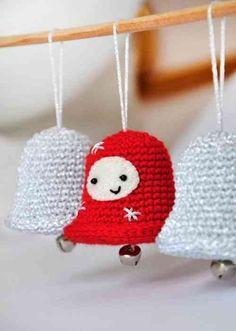 décorations intéressantes de Noël en tricot