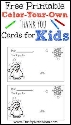 Free Printable Thank You Cards | Free printable