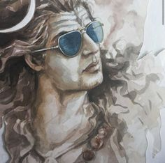 Lord Shiva as Nataraj in creative art painting Shiva Tandav, Rudra Shiva, Shiva Linga, Shiva Art, Hindu Art, Lord Ganesha Paintings, Lord Shiva Painting, Lord Shiva Hd Wallpaper, Lord Vishnu Wallpapers