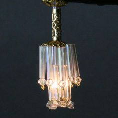 Make a Simple Dollhouse Chandelier from Beads: Make a Working Scale Miniature  Waterfall Chandelier in Dollhouse Scale