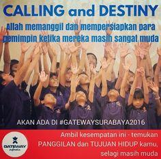 Gateway Indonesia 2016: DISCIPLESHIP/LINKING THE GENERATIONS/ OUTREACH  KONFERENSI: 21-25 JUNI 2016 Lokasi: SMA Kr. GLORIA Pakuwon City Surabaya OUTREACH: 26-28 JUNI 2016 Lokasi: Surabaya  GATEWAY adalah bagian dari pelayanan global #YWAM / #KingsKids International Gateway Indonesia diselenggarakan oleh #ywamindonesia ber-partnership dengan tubuh Kristus di Surabaya  #generations #families #childrenandyouth #jesusthecenter by gatewaycymc http://bit.ly/dtskyiv #ywamkyiv #ywam #mission…