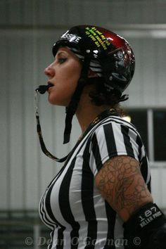 Referee for roller derby--My hubby is training to be a ZEBRA!