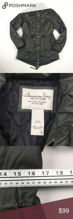 American Rag Cie Olive Womens Parka S A8709 Pre owned. American Rag Jackets & Coats Utility Jackets