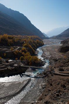 Hushe village . Pakistan