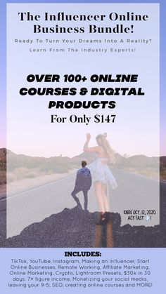 Influencer Online Business Bundle Start Your Online Business Today Online Business Business Courses Online Marketing