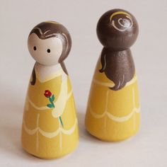 Beauty and the Beast Peg Doll Set of 2 by HandmadePixieDust