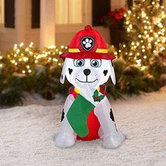 Paw-Patrol-Christmas-Airblown-Inflatable-Marshall-Holiday-Decor-4Ft-Tall-New