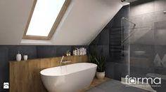 Znalezione obrazy dla zapytania łazienka na poddaszu z wanną wolnostojącą