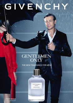 SIMON BAKER FRONTS GIVENCHY 'GENTLEMEN ONLY' FRAGRANCE CAMPAIGN