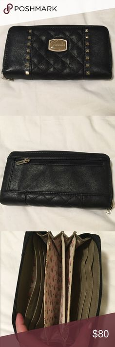 Selling this Black Clutch Guess Wallet on Poshmark! My username is: kimdickinson1. #shopmycloset #poshmark #fashion #shopping #style #forsale #Guess #Handbags