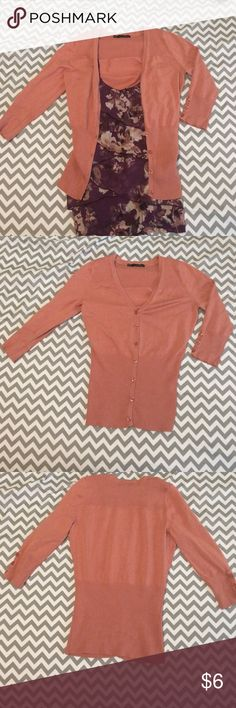 Maurices Cardigan with Quarter length sleeves Cute rose colored cardigan from Maurices. Like new condition. Purchased to match the cami but it wasn't my style. Cami also available 😊 Maurices Tops