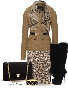 """""""Lace dress with tweed blazer"""" by leilani-almazan ❤ liked on Polyvore"""