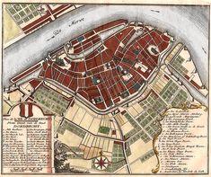 Plattegrond van Dordrecht in 1740 uitgegeven door De Leth Human Instincts, Family Roots, Old Maps, City Maps, Historical Maps, Rotterdam, Genealogy, Planer, Childhood Memories