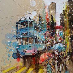 """Affordable Art Fair Hong Kong, May 2015 """"Crossing"""" Mixed media ..."""