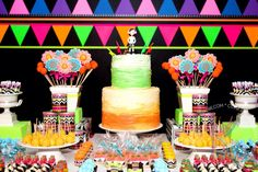 convites para neon party - Pesquisa Google