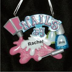 Manicurist Personalized Christmas Ornament