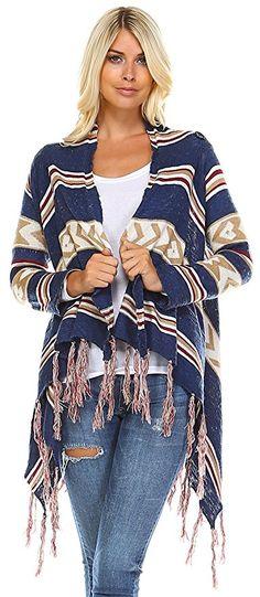 Zoozie LA Women's Cowl Aztec Cardigan Tribal Sweater Poncho Regular & Plus Size Tribal Sweater, Aztec Cardigan, Poncho Sweater, Cowl, Kimono Top, Plus Size, Apple, Sweaters, How To Wear