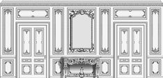 Agrell Architectural Carving French paneled room design example