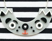 I See Faces, Pug Face - clear acrylic necklace - plastic jewelry - acrylic jewellery - Perfect for a pug dog lover - Cute pug Necklace