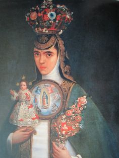Crowned nun. Concepcionist