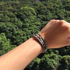 Summer Greens! #wristgame #stacks #leatherbracelet #fashion #style #luxury #elegance #pythonbracelet #nofilter #stingraybracelet #rosegold #musthave #instalove #love #laykh 💚 - Link in the Bio 👆🏼