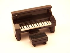 LEGO: Piano - Upright in Black w/ Bench lot,furniture,city,town,collection #LEGO