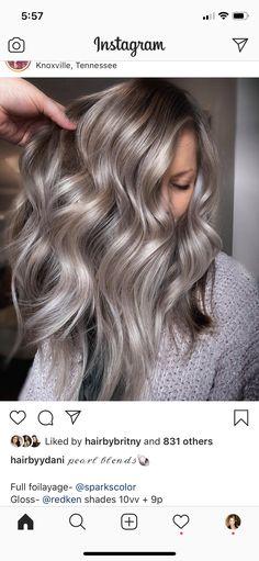 Grey Hair Formula Redken, Redken Hair Color, Hair Color Formulas, Redken Color Formulas, Diy Hair Toner, Matrix Hair Color, Redken Hair Products, Teased Hair, Hair Color Techniques